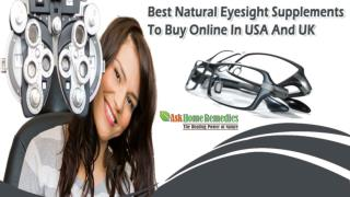 Best Natural Eyesight Supplements To Buy Online In USA And UK