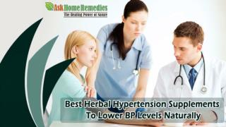 Best Herbal Hypertension Supplements To Lower BP Levels Naturally