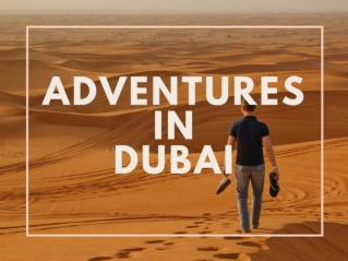 Adventures in Dubai