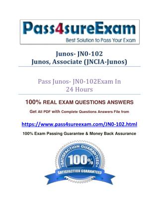 Pass4sure JN0-102 Real Exam