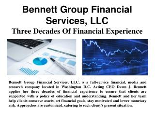 Bennett Group Financial Services, LLC – Three Decades Of Financial Experience