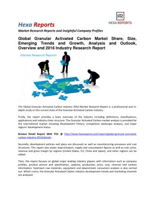 Granular Activated Carbon Market Share, Size, Emerging Trends and Analysis