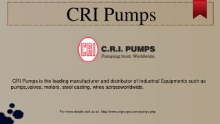 Submersible Pumps Manufacturers | CRI