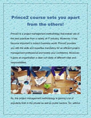 Prince2 course sets you apart from the others!