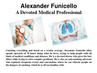 Alexander Funicello - A Devoted Medical Professional