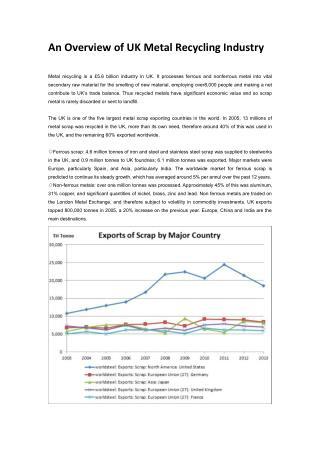 Prospect of Copper Granulator in UK Copper Recycling Industry