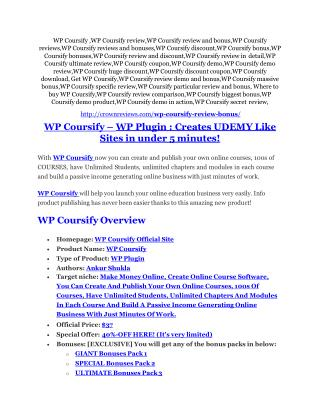 WP Coursify Review & WP Coursify $16,700 bonuses