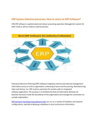 How To Select ERP Garment Manufacturing Software? Choose Best ERP Software