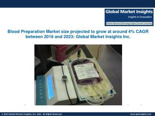 Blood Preparation Market size projected to grow at around 4% CAGR between 2016 and 2023
