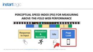 Perceptual Speed Index (PSI) for Measuring Above-the-fold Visual Performance of Web Pages