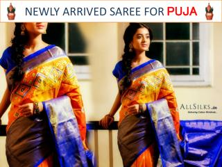 Newly arrived sarees for Puja