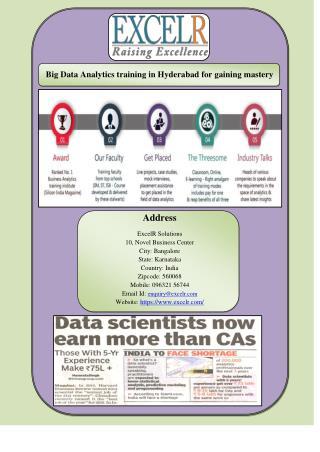 Big Data Analytics training in Hyderabad for gaining mastery