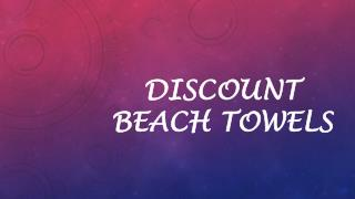 Discount beach towels