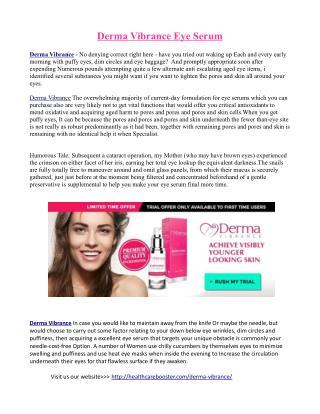 http://www.healthcarebooster.com/derma-vibrance/