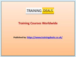 Training Deals-Training Courses Worldwide
