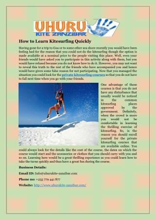 How to Learn Kitesurfing Quickly