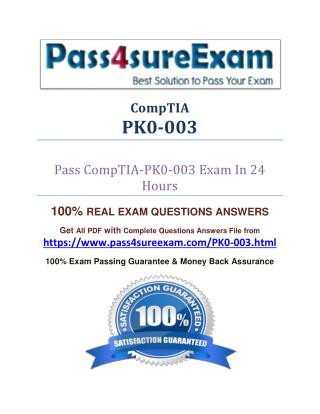 Pass4sure PK0-003 Study Guide