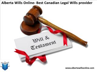 Alberta Wills Online- Best Canadian Legal Wills provider