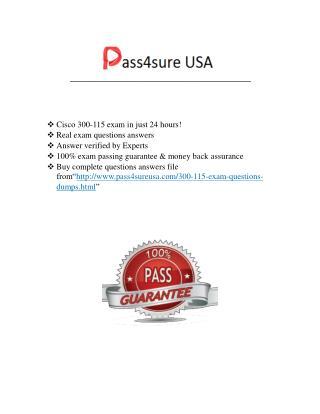 Cisco 300-115 Exam Questions