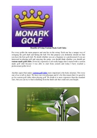 Custom Golf Clubs and Irons