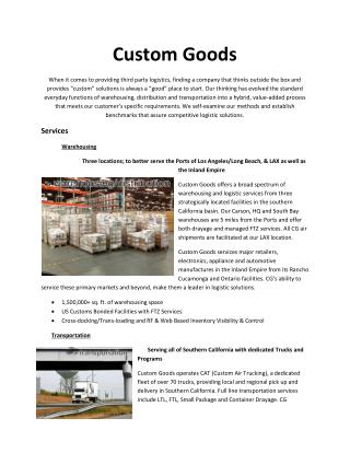 Custom Goods
