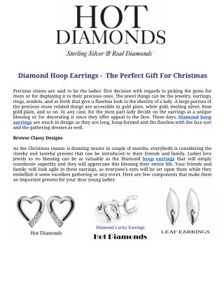 Diamond hoop earrings -  the perfect gift for christmas