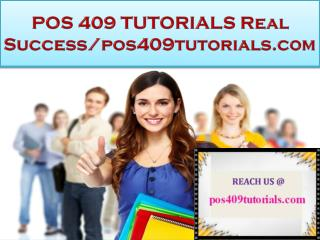 POS 409 TUTORIALS Real Success/pos409tutorials.com