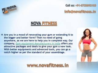 novafitness.in -  Absolute gym & fitness equipment manufacturer in India