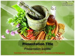 Download Herbs Remedies Powerpoint Templates and Background