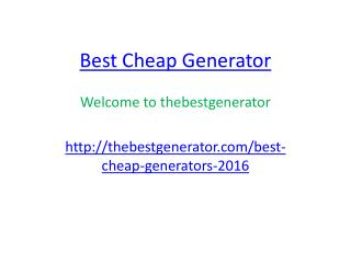 Best Cheap Generator