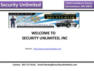 Special Event Security Maryland