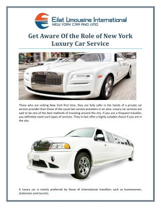 Get Aware Of the Role of New York Luxury Car Service