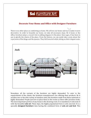Sofa Set Manufactureres in Delhi
