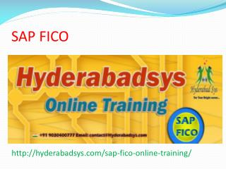 The Best SAP FICO Online Training in USA, UK, Canada.