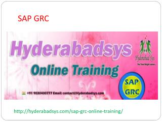 The best SAP GRC Online Training in USA, UK, Canada.