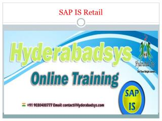 The Best SAP IS Retail Online Training in USA, UK, Canada.