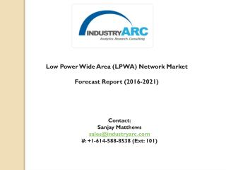Low Power Wide Area (LPWA) Network Market