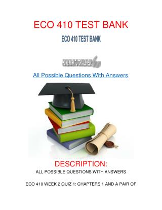 ECO 410 TEST BANK