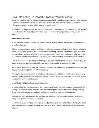 Email Marketing Services