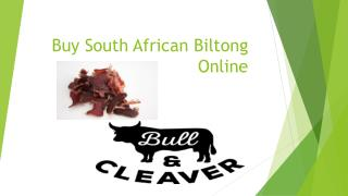Buy South African Biltong Online