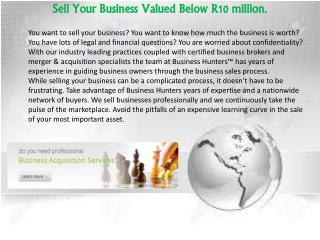Buy a Business in South Africa