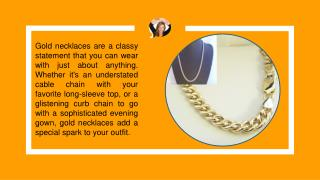 Gold Necklaces Online