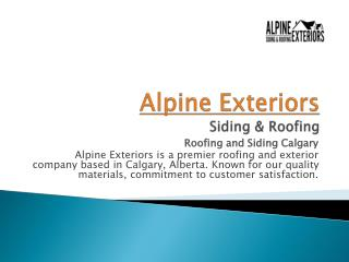 Alpine Exteriors - Roofing and Siding Calgary