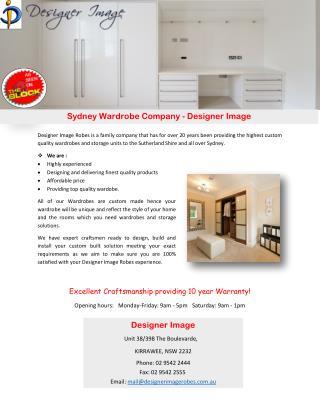 Sydney Wardrobe Company - Designer Image