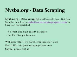 Nysba.org - Data Scraping