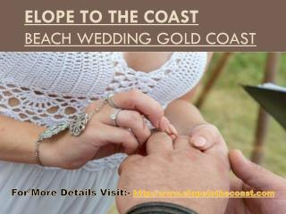 Elope To The Coast - Wedding Planner