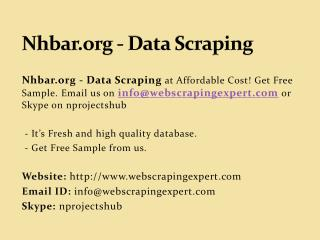 Nhbar.org - Data Scraping