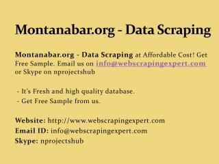 Montanabar.org - Data Scraping
