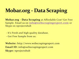 Mobar.org - Data Scraping
