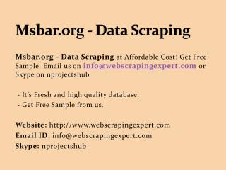 Msbar.org - Data Scraping